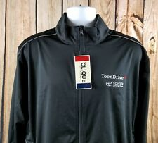 TOYOTA Full Zip Light Softshell Wind and Water Resistant Mock Neck XL by CLIQUE