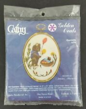 Cathy Needlecraft Curiosity Mouse Golden Ovals Cross stitch New Sealed Vintage