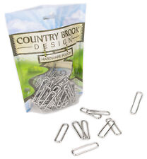 100 - Country Brook Design® 1 1/2 Inch Rectangle Metal Keeper
