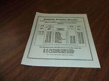 SEPTEMBER 1959 DOMINION ATLANTIC LABOR DAY EXTRA SERVICE PUBLIC TIMETABLE