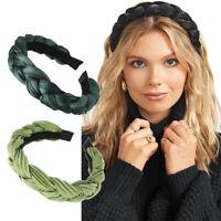 Ladies Twist Braided Headband Hairband Alice Hair Band Hoop Accessories Headwear