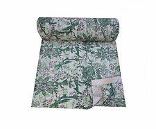 Cotton Bedcover Bedspread Coverlet Indian Print Kantha Qu