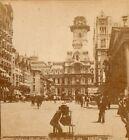 Philadelphia City Hall and Broad Street.   Stereoview Photo