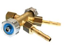 Doppelabzweigventil für Sauerstoff, Schutzgas, Stickstoff, Argon, Gasverteiler