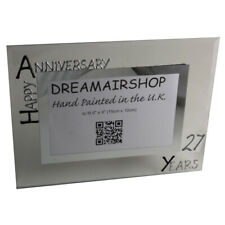 27th Year Anniversary Photo Frame: (L) (Black/Silver)