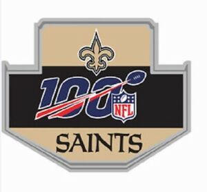 NEW ORLEANS SAINTS 100TH ANNIVERSARY PIN SUPERBOWL CHAMP SUPER BOWL 2020 NFL