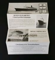 1994 The Cruise Ships In Cherbourg~ CUNARD ~ QE2 ~ Royal Viking ~ Canberra P & O