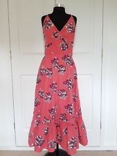 Per Una Pink Floral Midi Dress UK12 Petite Summer Boho Festival Wedding Beach