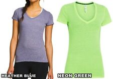 Under Armour WOMEN'S Charged Cotton Fitted Athletic V-Neck Shirts, 1236032 NEW!
