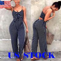 Summer Women's Clubwear Playsuit Bodysuit Party Jumpsuit & Romper Long Trousers