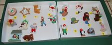 22 HALLMARK Christmas Ornament Lot Santa Bear Penguin Angel Mouse 1986 1987 1988
