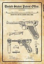 US Patent Luger Pistole Pistol 1904 Blechschild Schild Metal Tin Sign 20 x 30 cm