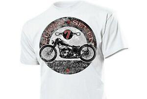 T-Shirt Lucky Seven Black Darkness Rockabilly Vintage Biker Oldtimer Pin-up V2