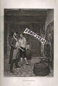 1872 GRAVURE Gebbie & Company THE SIGN PAINTER J. L. E. Meissonier, Pinx PRINT