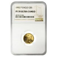 1992 P 1/10 oz $5 Proof Gold American Eagle NGC PF 70 UCAM