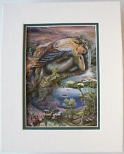 Mer Angel by Josephine Wall Fantasy Abstract Double Matted Fits 8x10 Frame