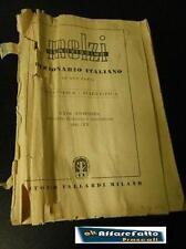 LIBRO DIZIONARIO ITALIANO IN DUE PARTI ANTONIO VALLARDI ITALIA PRINTED 1942
