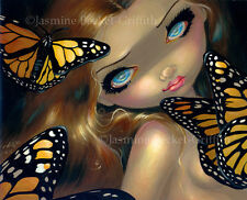 Jasmine Becket-Griffith art print SIGNED Nymph with Monarchs marmaid butterfly