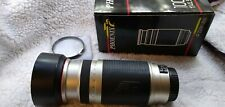Phoenix AF Zoom Lens 100-400mm f:4.5 – 6.7 for Canon EF Used Great Condition.