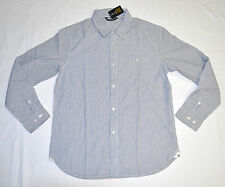 Men's UNDEFEATED Pinstripe Button Down Shirt Blue White size M (T68) $80