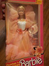 RARE Vintage 1984 Barbie Peaches N Cream Doll #7926 Mattel with Accessories Box