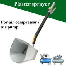 Plaster Sprayer Cement Mortar Gun 4 Jet Hopper Concrete Stucco Paint Wall Tool