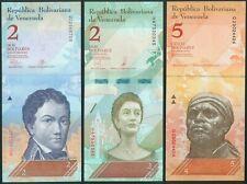 Venezuela Serie mit 15 Banknoten 2011-18 Pick 101-108 etc..., UNC.-
