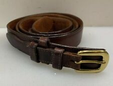 Men 40 Brown Leather Western Belt Vintage Patina Brass Buckle
