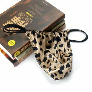 Mens 100% Silk Thongs G-string T Panties Briefs Thong Bikinis Knickers XL XXL L