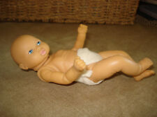 """VTG 7"""" Wrinkley Rubber Baby Doll Jointed Arms and Head - Unbranded"""
