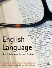 English Language : Description, Variation and Context by Paul Kerswill,...