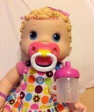 BABY ALIVE WET AND WIGGLES CHANGING TIME MAGNETIC PACIFIER & SIPPY CUP  NO DOLL