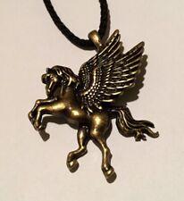 Vintage Pegasus Pendant Necklace Horse Wings Fantasy