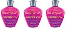 3X Supre Tan Keep Calm and Bronze On Ultra Black Bronzer 10.1 fl oz/ 300 ml each