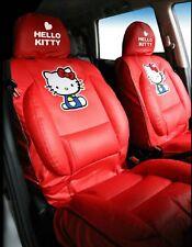 Hello Kitty HOUSSES de Siège Auto Premium Édition Limitée Simili Cuir Rouge ( X