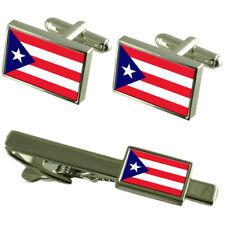 Puerto Rico Gemelos con Bandera Clip a Conjunto Caja Set de Regalo