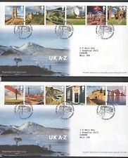 Gb 2011 Fdc Reino Unido A-z 2 cubre tallents Casa Edimburgo Matasellos Estampillas