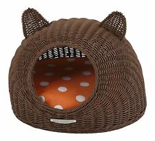 """""""Cat House"""" of traditional Japanese handmade Color brown"""