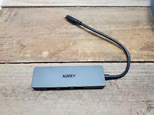 AUKEY USB-C TO 4-PORT USB 3.0 HUB BLACK-Type C SEALED