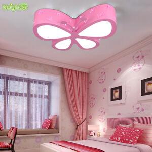Modern LED Butterfly Ceiling Lamp Children Bedroom Pendant Light Xmas Lamps