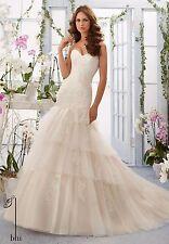 Mori Lee mermaid  wedding dress size 6 Ivory/Cameo  100% ORIGINAL