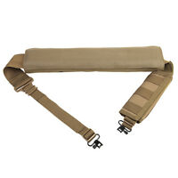 Tactical TAN Shotgun Sling With QD Swivels And Shell Carrier Fits Remington 870