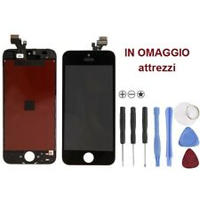 Vetro Touch screen con Display LCD originale già assemblato PER iPhone 5 NERO