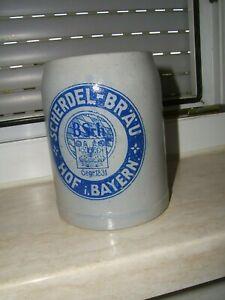 alter bierkrug 0,5l Scherdel Bräu Hof i. Bayern Brauereikrug
