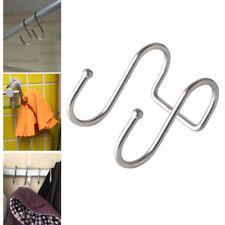 S Type Stainless Steel Over the Door Hook Home Kitchen Wall Towel Hanger Holder