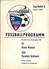 DDR-Liga 79/80 ASG hacia adelante Stralsund-fc hansa rostock, 15.12.1979