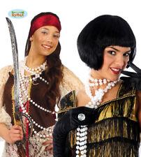 Collana Perle Finte Charleston Donna Carnevale Anni '20 Halloween Teatro Nuovo