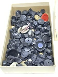 Large lot of Blue Plastic Molded Vintage Navy Buttone