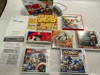 Nintendo 3DS Super Mario 3D Land Edition System Bundle 5 Games Mario Maker.USED