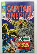 CAPITAN AMERICA n° 4 Editoriale Corno 1973 GADGET Adesivi